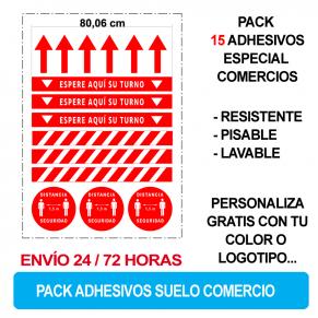 Pack Adhesivos suelo comercios