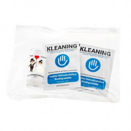 Kit Básico Bodas Personalizado Mini-Kleaning